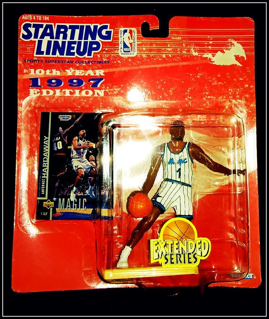 "ANFERNEE ""PENNY"" HARDAWAY / ORLANDO MAGIC * 1997 EXTENDED SERIES * NBA Starting Lineup & Exclusive TOPPS Collector Trading Card"