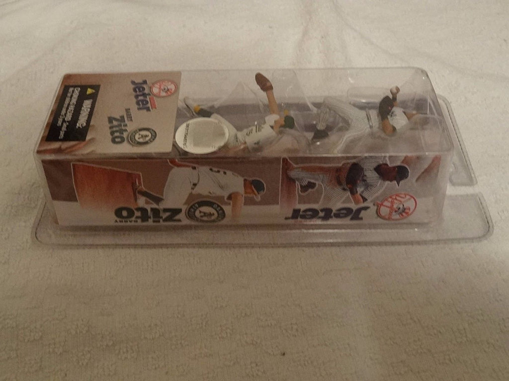 "2004 McFarlane 3 /12"" figures Derek Jeter and Barry Zito 2 Pack"