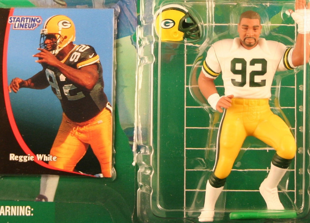 REGGIE WHITE / GREEN BAY PACKERS 1998 NFL Starting Lineup Action Figure & Exclusive NFL Collector Trading Card