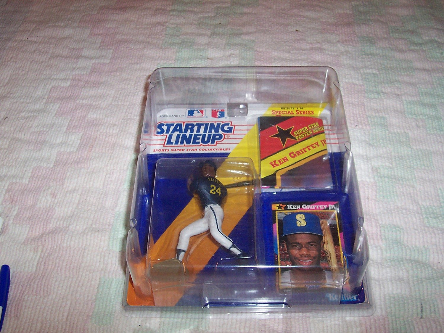 Ken Griffey Jr. 1992 Starting Lineup White Pants Seattle Mariners