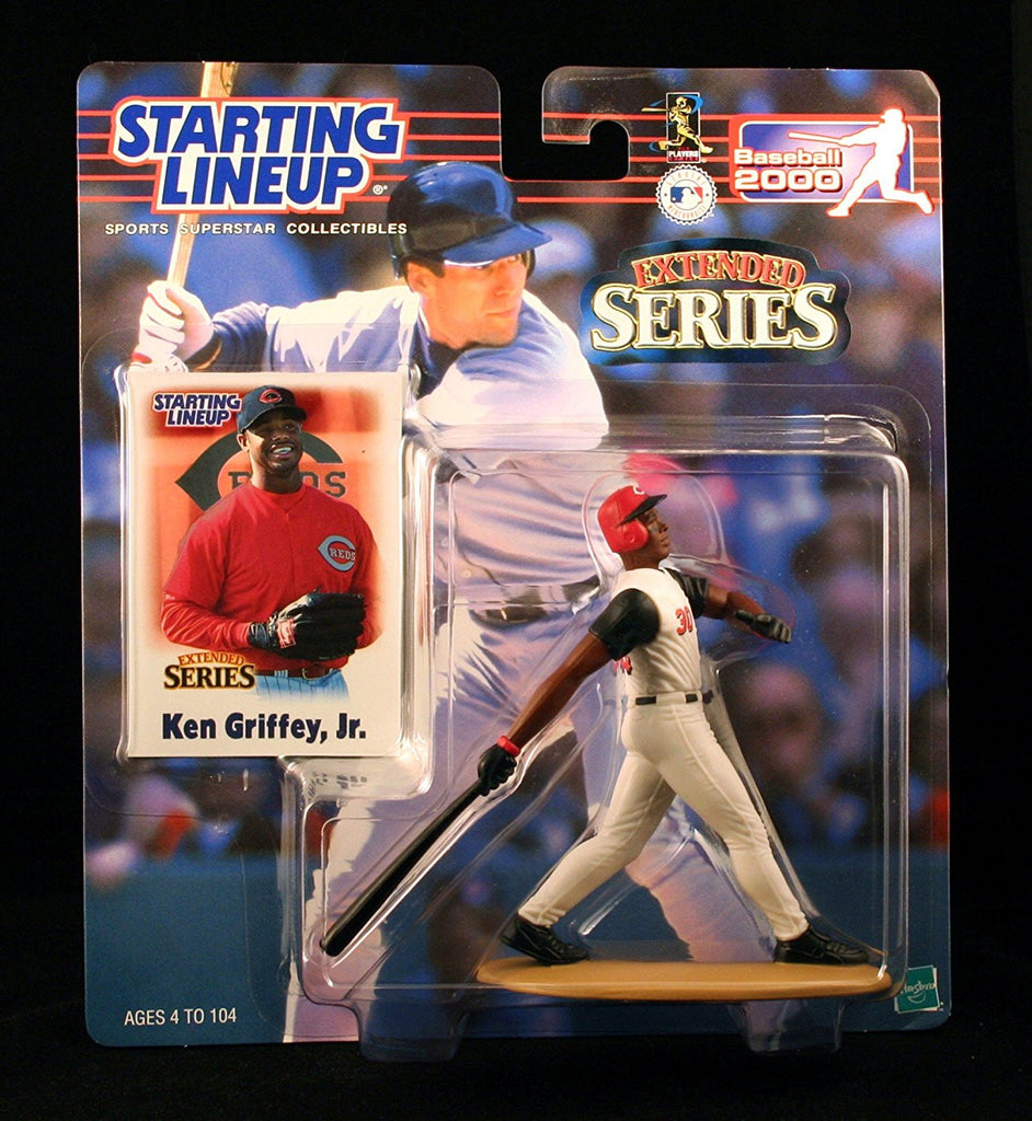 KEN GRIFFEY JR. / CINCINNATI REDS 2000 MLB Extended Series Starting Lineup Action Figure & Exclusive Collector Trading Card