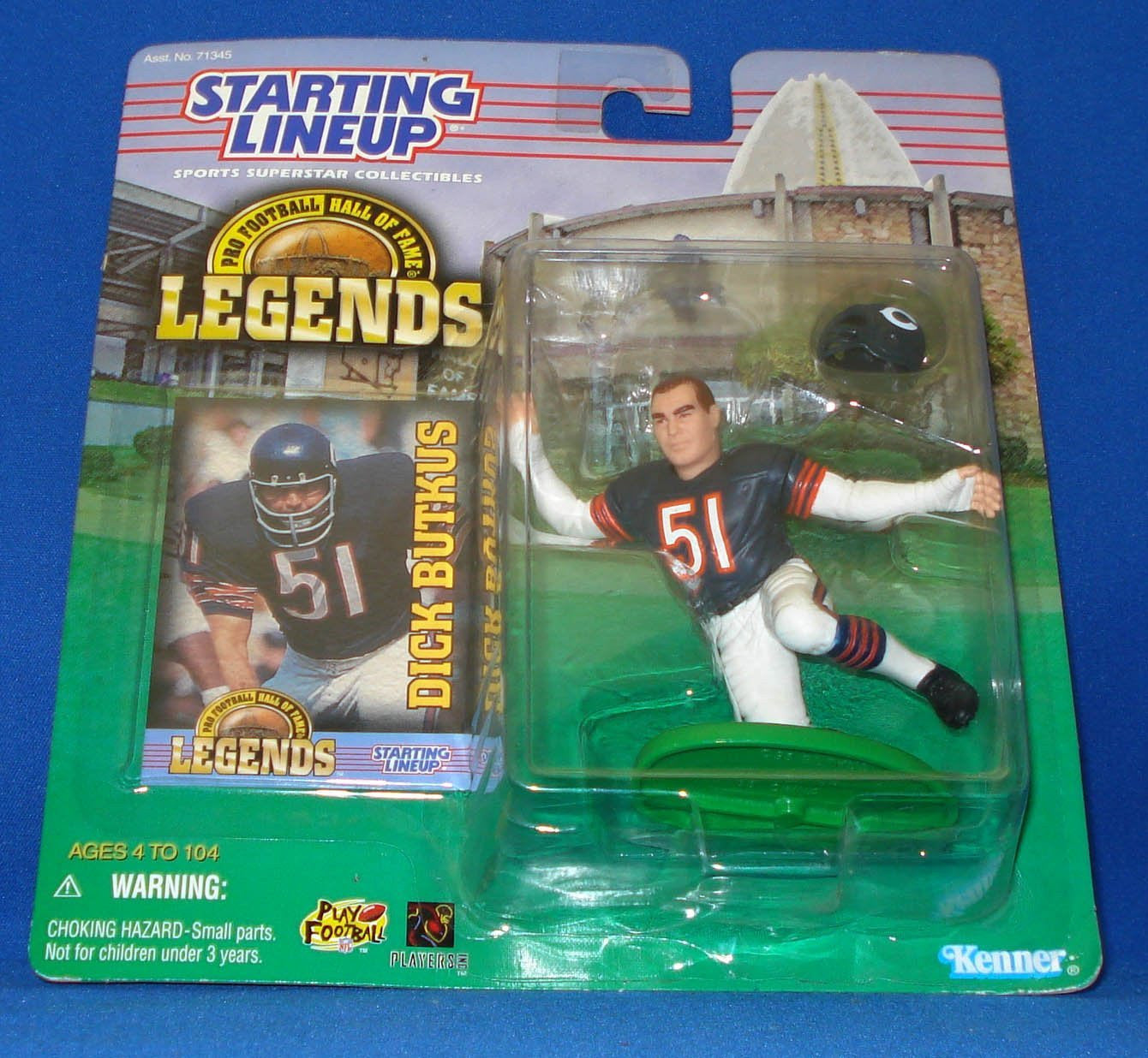 Starting Lineup Pro Football Hall Of Fame Dick Butkus 4.5 Inch Figure [Toy]