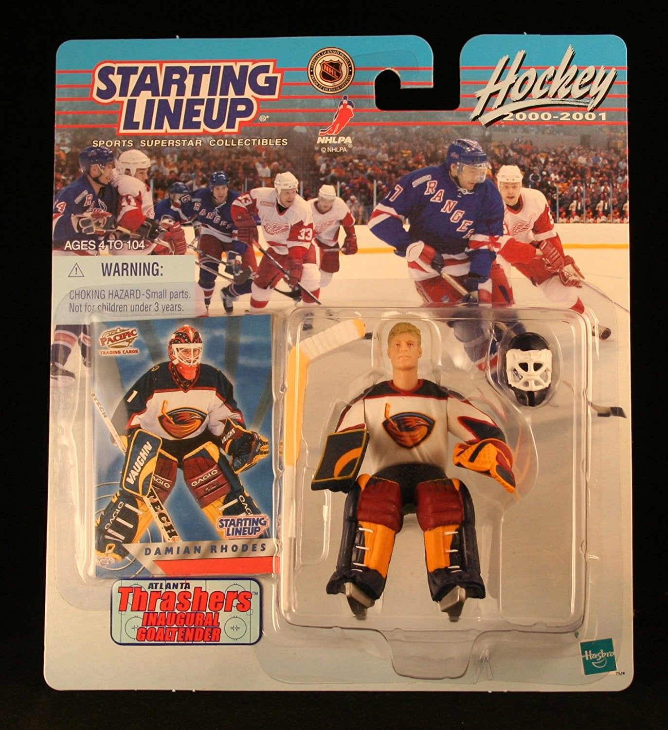 DAMIAN RHODES / ATLANTA THRASHERS 2000-2001 NHL Starting Lineup Action Figure & Exclusive NHL Collector Trading Card