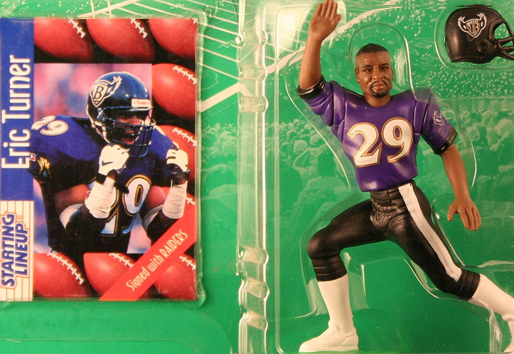 ERIC TURNER / BALTIMORE RAVENS 1997 NFL Starting Lineup Action Figure & Exclusive NFL Collector Trading Card