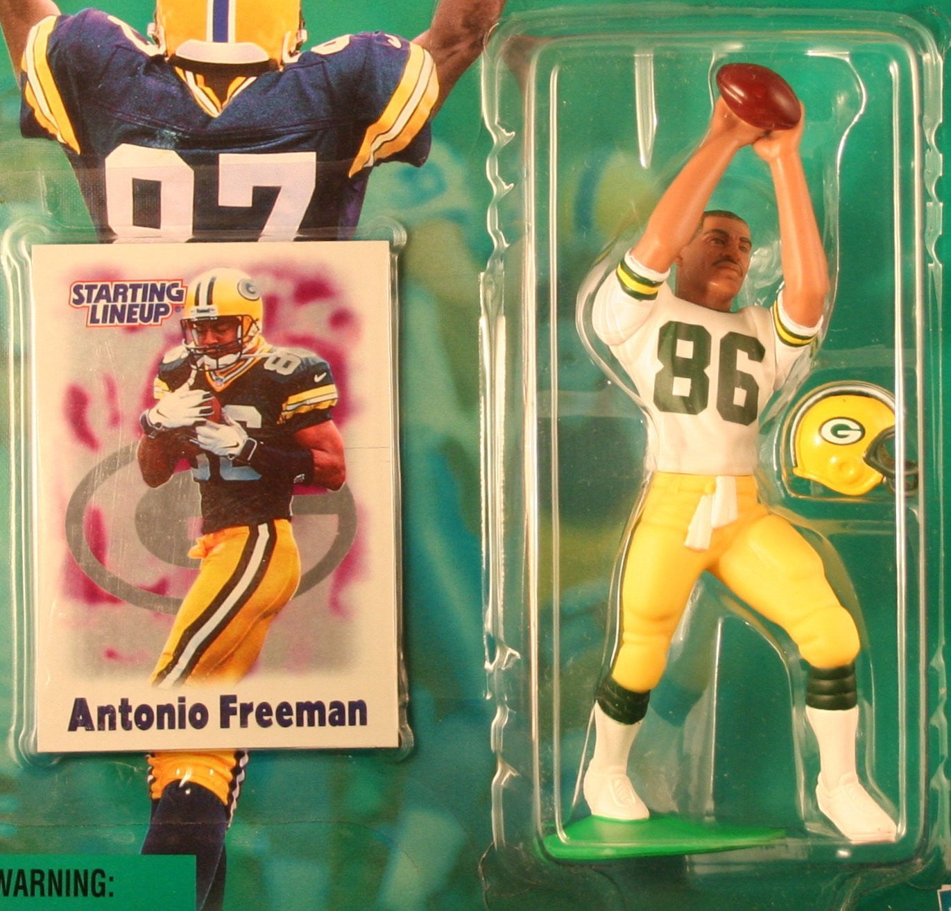 ANTONIO FREEMAN / GREEN BAY PACKERS 2000-2001 NFL Starting Lineup Action Figure & Exclusive NFL Collector Trading Card