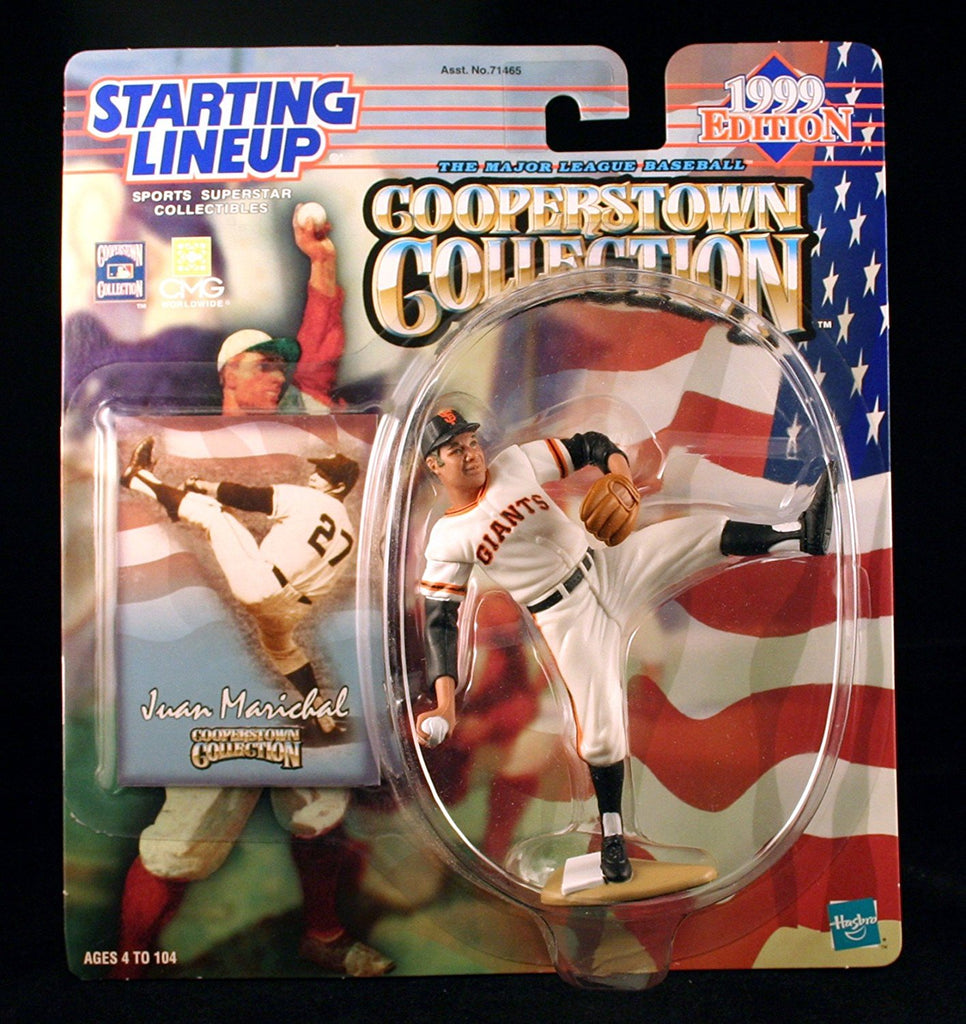JUAN MARICHAL / SAN FRANCISCO GIANTS 1999 MLB Cooperstown Collection Starting Lineup Action Figure & Exclusive Trading Card