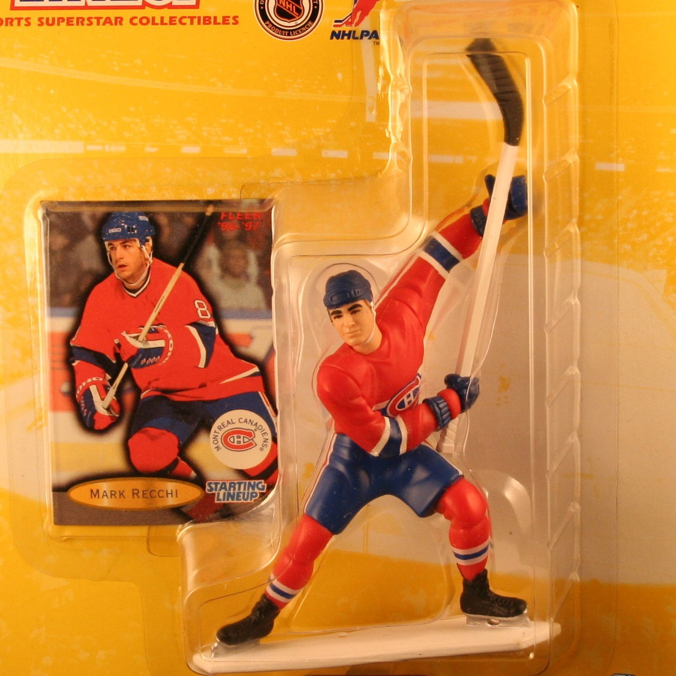 MARK RECCHI / MONTREAL CANADIENS 1997 NHL Starting Lineup Action Figure & Exclusive NHL FLEER '96/'97 Collector Trading Card