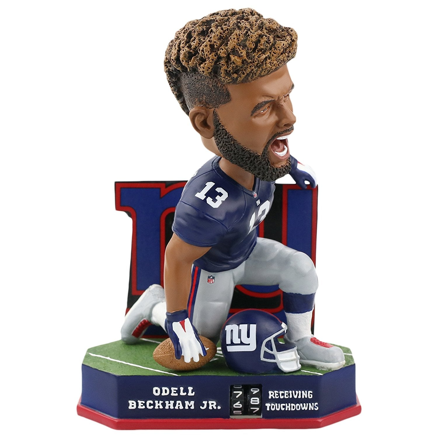 Forever Collectibles Odell Beckham New York Giants Receiving Touchdown Tracker Bobblehead NFL