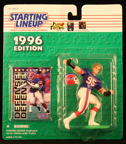 BRYCE PAUP / BUFFALO BILLS 1996 NFL Starting Lineup Action Figure & Exclusive NFL Collector Trading Card