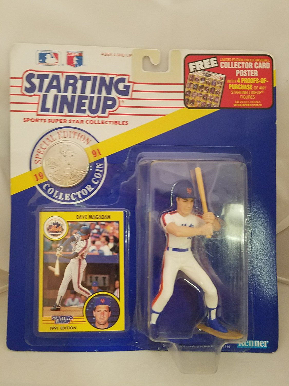 1991 Dave Magadan Starting Lineup New York Mets Special Edition