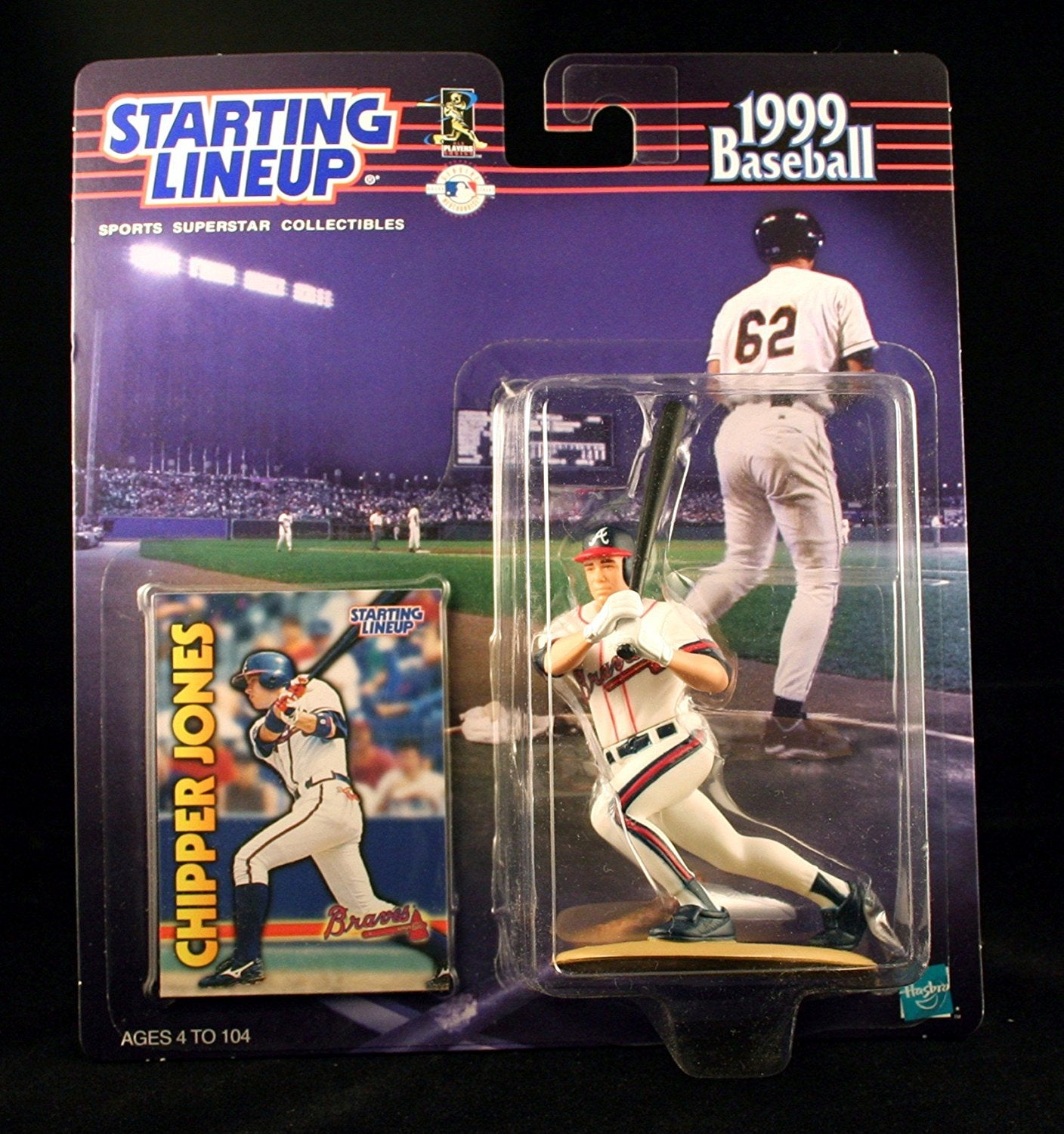 CHIPPER JONES / ATLANTA BRAVES 1999 MLB Starting Lineup Action Figure & Exclusive Collector Trading Card