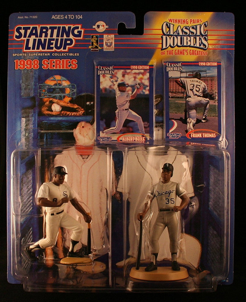 ALBERT BELLE / CHICAGO WHITE SOX & FRANK THOMAS / CHICAGO WHITE SOX 1998 MLB Classic Doubles * Winning Pairs Series * Starting Lineup Action Figures & 2 Exclusive Collector Trading Cards
