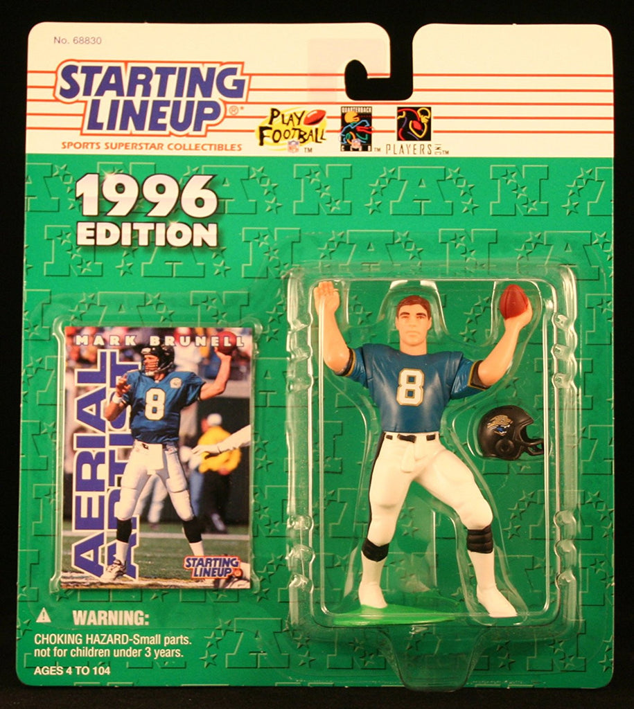 MARK BRUNELL / JACKSONVILLE JAGUARS 1996 NFL Starting Lineup Action Figure & Exclusive NFL Collector Trading Card