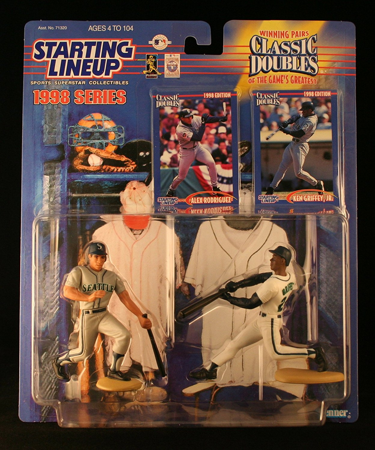 ALEX RODRIGUEZ / SEATTLE MARINERS & KEN GRIFFEY JR. / SEATTLE MARINERS 1998 MLB Classic Doubles * Winning Pairs Series * Starting Lineup Action Figures & Exclusive Collector Trading Cards
