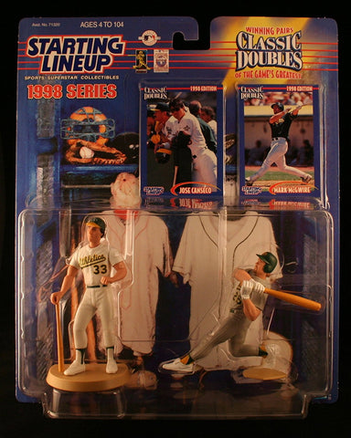 MARK MCGWIRE /OAKLAND A'S & JOSE CANSECO / OAKLAND A'S 1998 MLB Classic Doubles * Winning Pairs Series * Starting Lineup Action Figures & 2 Exclusive Collector Trading Cards