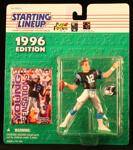 KERRY COLLINS / CAROLINA PANTHERS 1996 NFL Starting Lineup Action Figure & Exclusive NFL Collector Trading Card