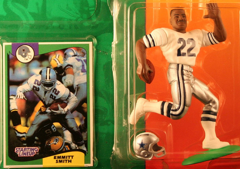 EMMITT SMITH / DALLAS COWBOYS 1994 NFL Starting Lineup Action Figure & Exclusive NFL Collector Trading Card