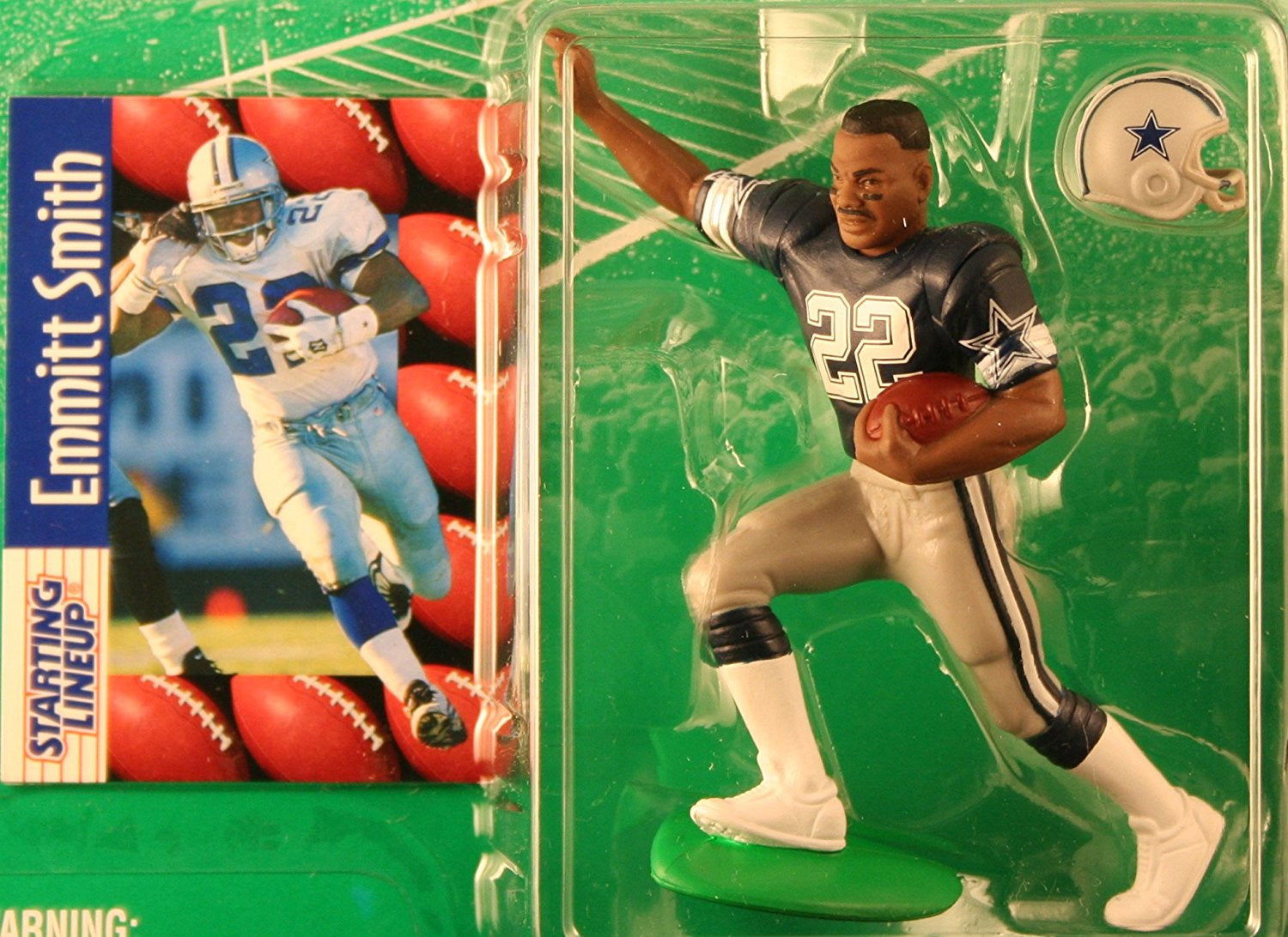 EMMITT SMITH / DALLAS COWBOYS 1997 NFL Starting Lineup Action Figure & Exclusive NFL Collector Trading Card