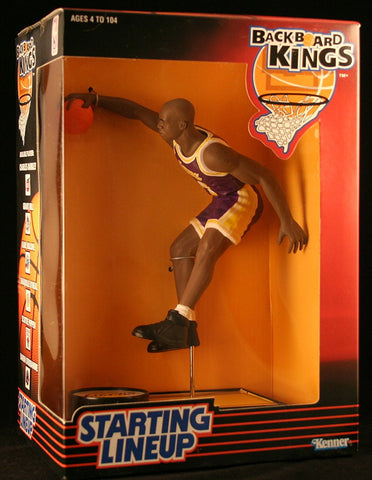 SHAQUILLE O'NEAL / LOS ANGELES LAKERS 1997 NBA Backboard Kings Starting Lineup Deluxe 6 Inch Figure