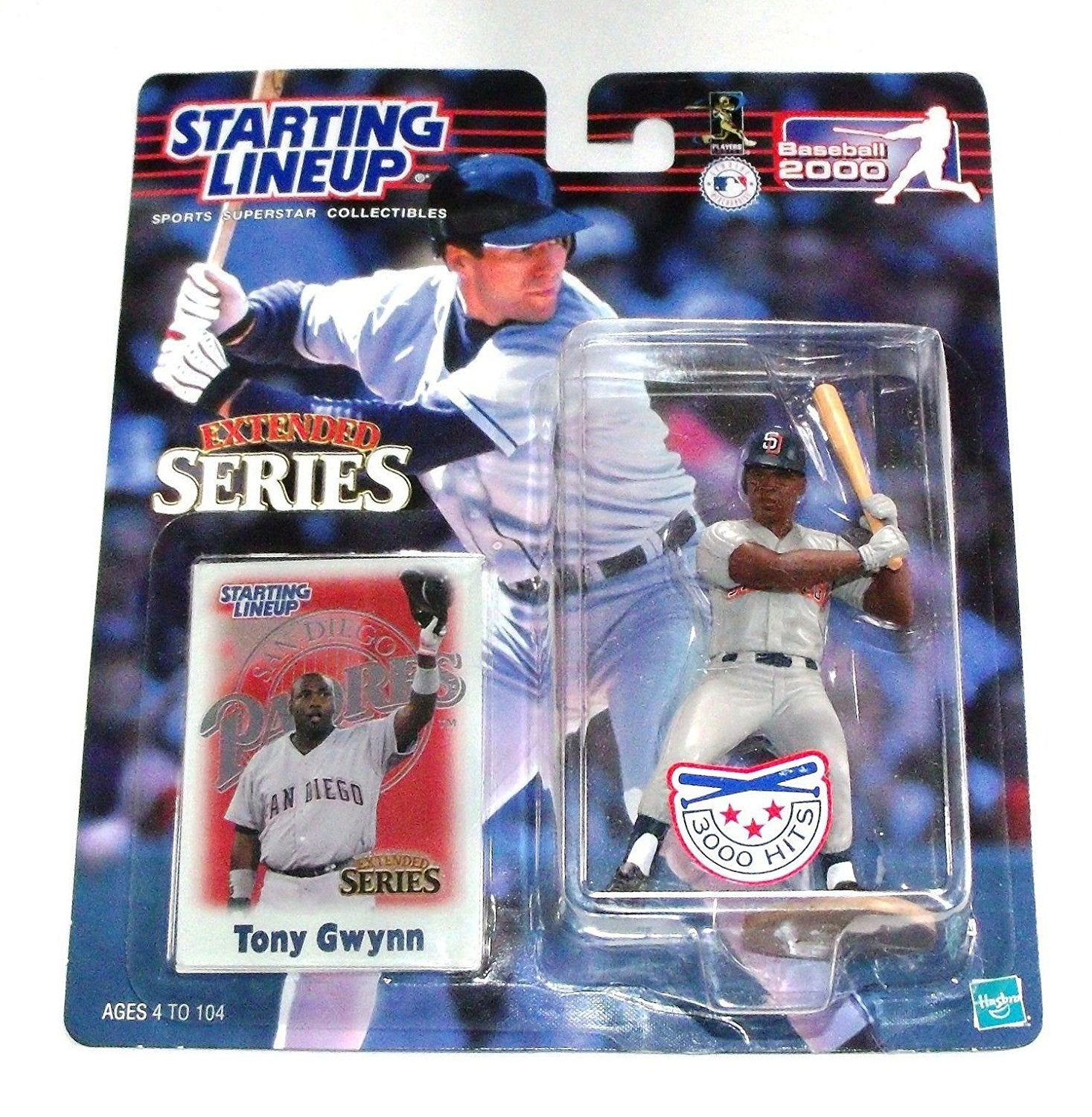 2000 Tony Gwynn San Diego Padres Starting Lineup Extended Series (3000 Hits) MLB Baseball figure