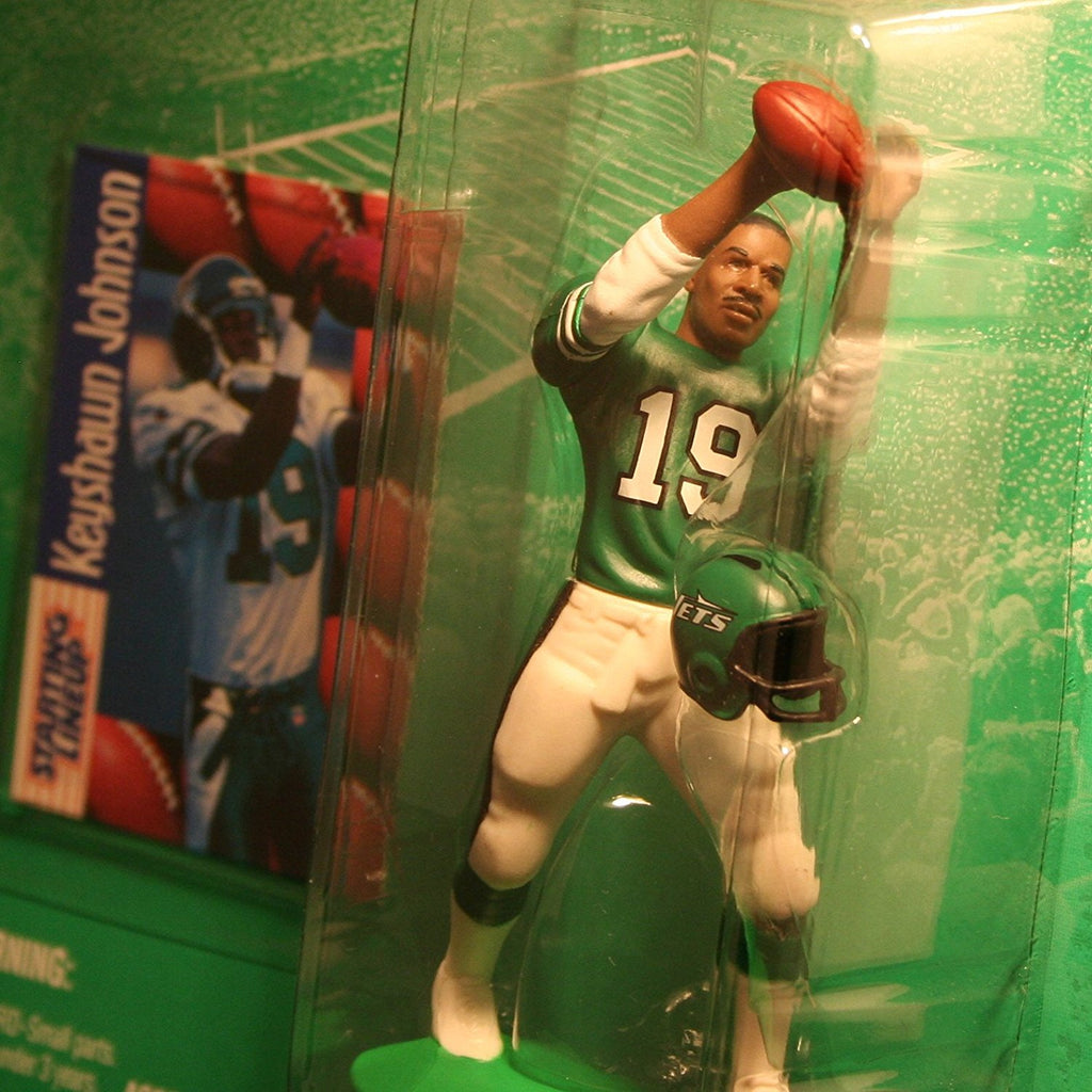 KEYSHAWN JOHNSON / NEW YORK JETS 1997 NFL Starting Lineup Action Figure & Exclusive NFL Collector Trading Card