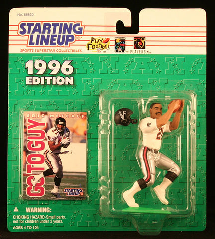 ERIC METCALF / ATLANTA FALCONS 1996 NFL Starting Lineup Action Figure & Exclusive NFL Collector Trading Card
