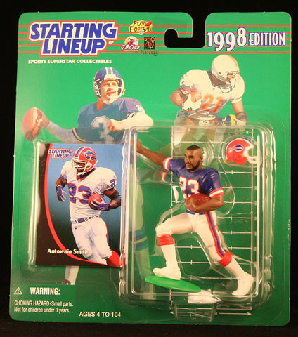 ANTOWAIN SMITH / BUFFALO BILLS 1998 NFL Starting Lineup Action Figure & Exclusive NFL Collector Trading Card