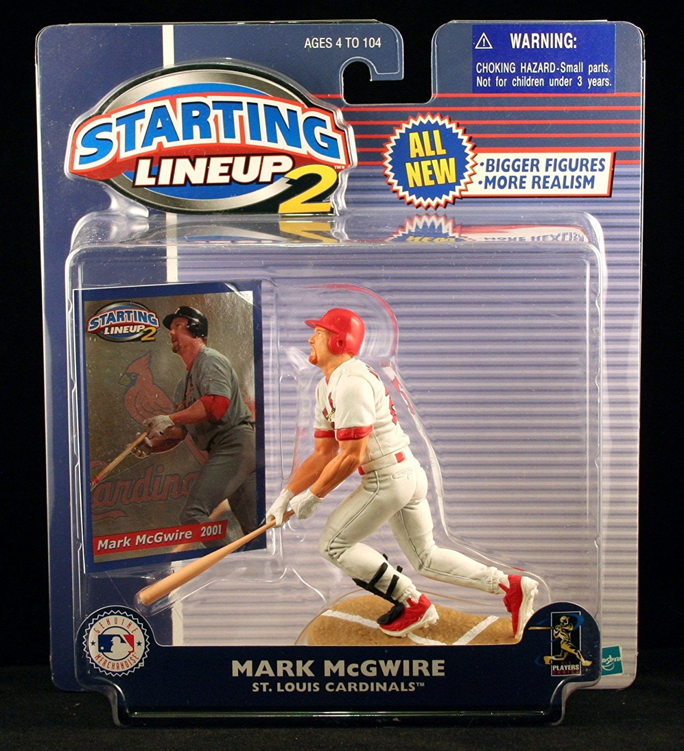 MARK MCGWIRE / ST. LOUIS CARDINALS 2001 MLB Starting Lineup 2 Action Figure & Exclusive Trading Card