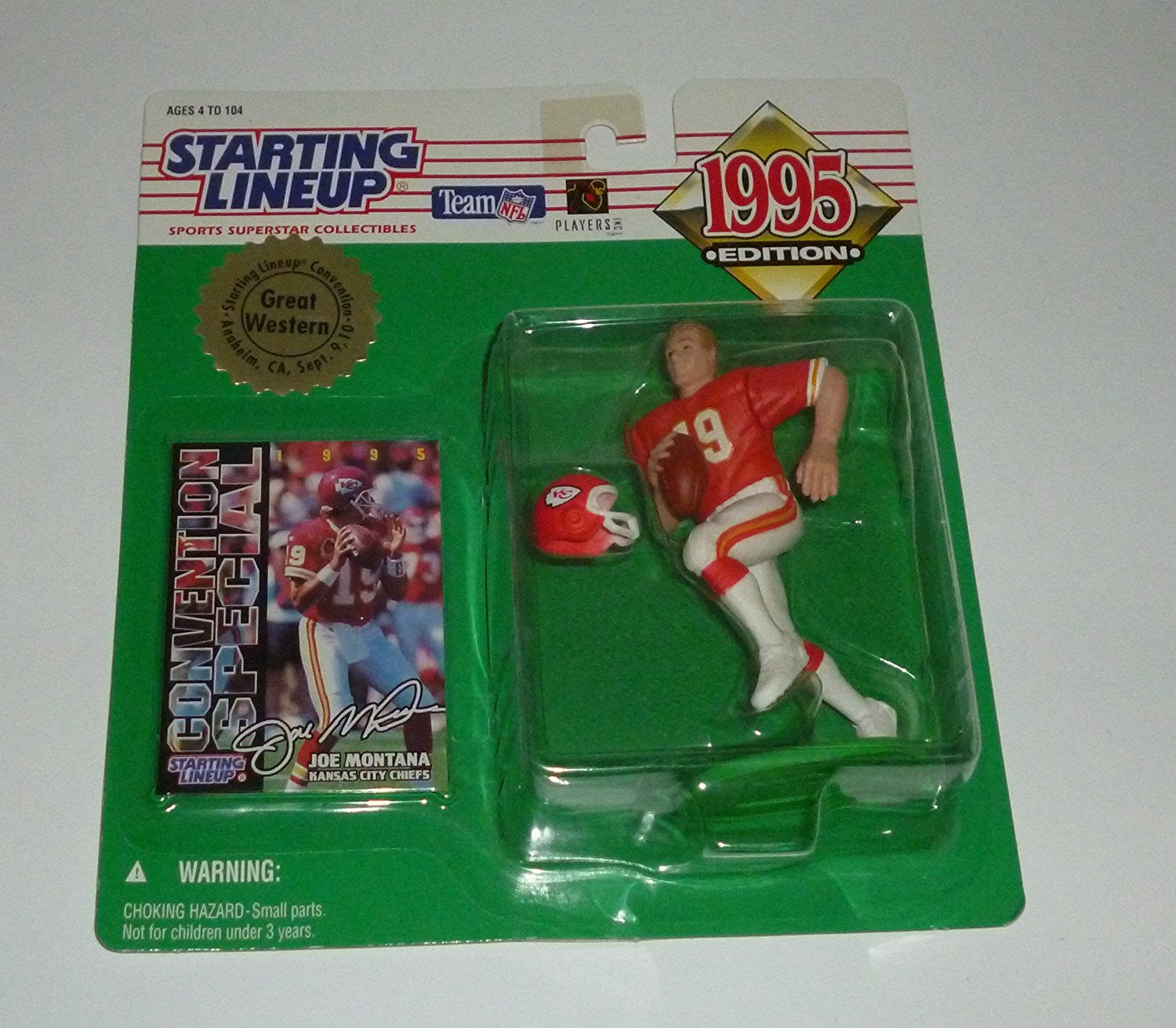 1995 Joe Montana Midwest Convention Starting Lineup Figure