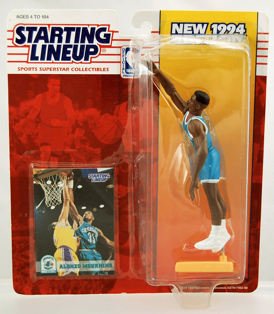 Alonzo Mourning - 1994 - Starting Lineup - Charlotte Hornets - Limited Edition - Mint - Collectible