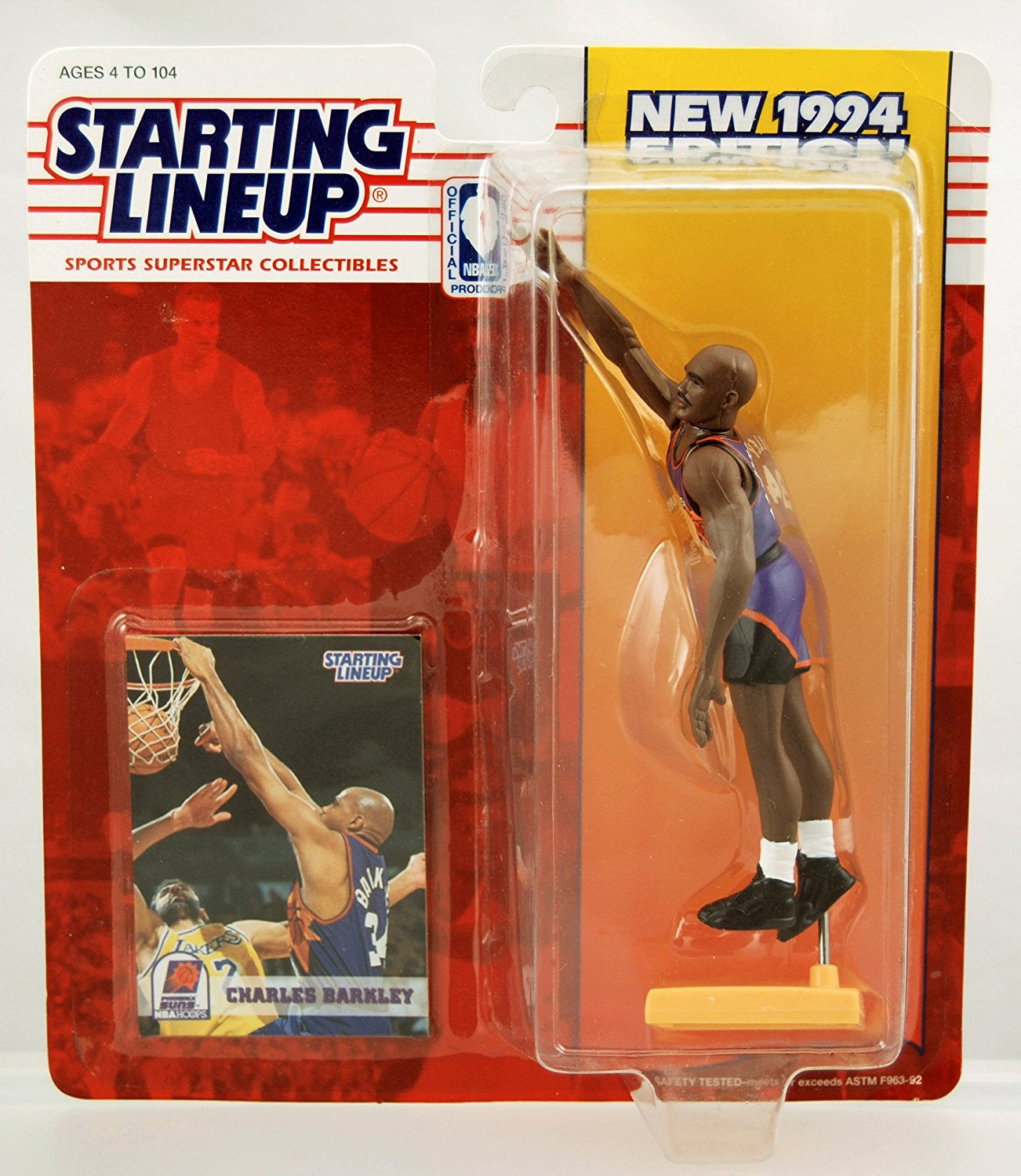 Starting Lineup Sports Superstar Collectibles Charles Barkley 1994 Phoenix Suns