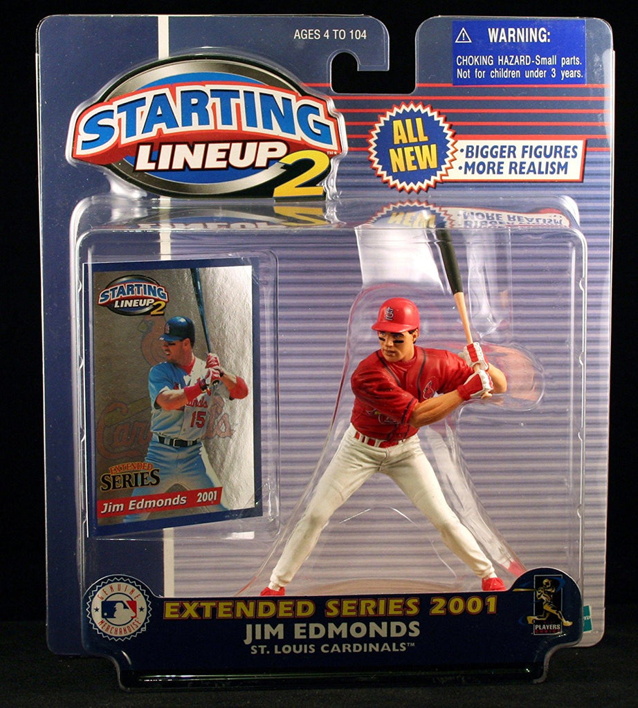 JIM EDMONDS / ST. LOUIS CARDINALS 2001 MLB Starting Lineup 2 EXTENDED SERIES Action Figure & Exclusive Trading Card