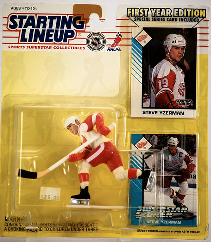 1993 Steve Yzerman Detroit Red Wings Starting Lineup NHL Hockey figure