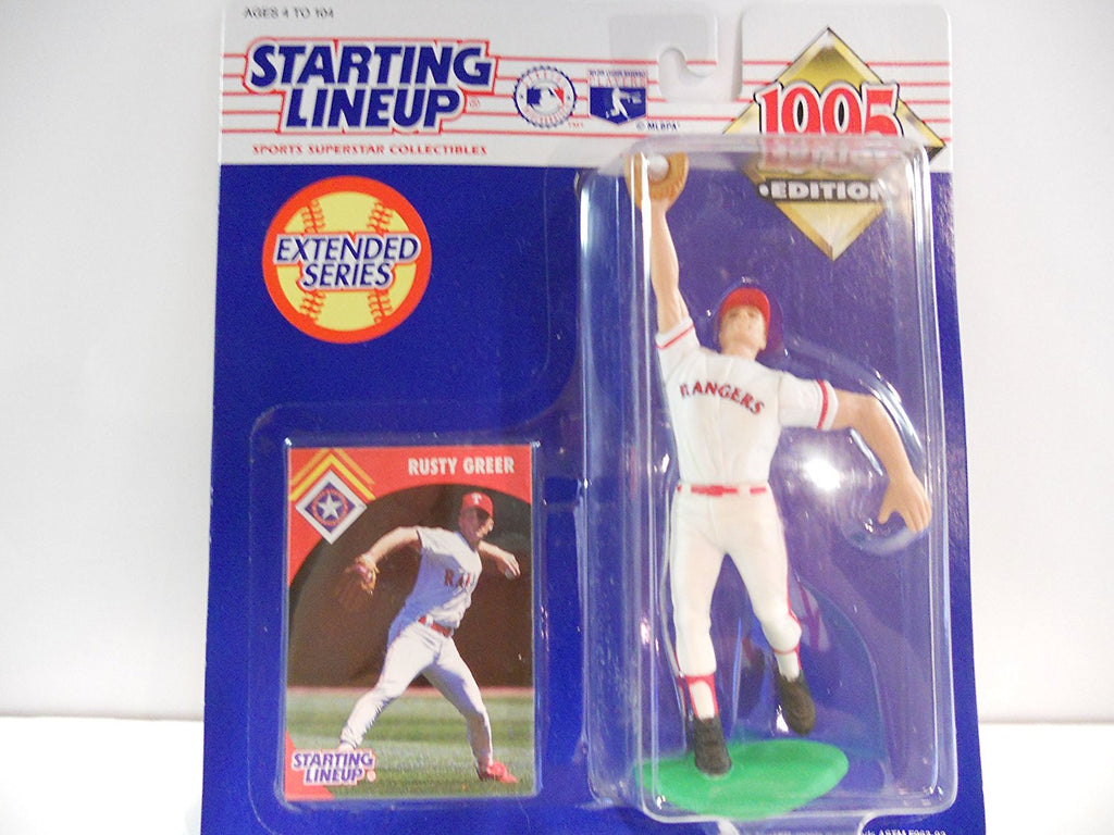 1995 Rusty Greer MLB Starting Lineup Extended Series Figure Texas Rangers