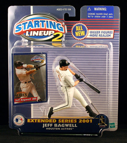 "JEFF BAGWELL / HOUSTON ASTROS 2001 MLB Starting Lineup 2 EXTENDED SERIES Action Figure & Exclusive Trading Card ""Hall of Fame"""