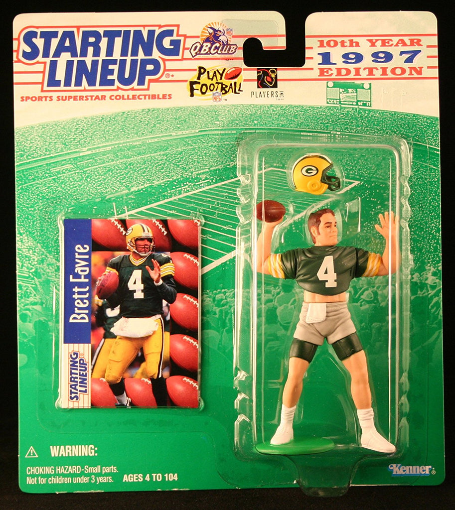BRETT FAVRE / GREEN BAY PACKERS 1997 NFL Starting Lineup Action Figure & Exclusive NFL Collector Trading Card