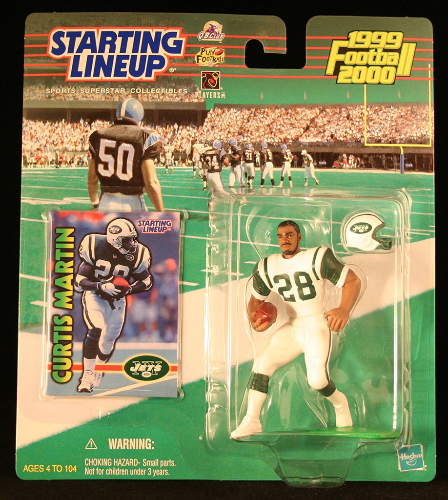 CURTIS MARTIN / NEW YORK JETS 1999-2000 NFL Starting Lineup Action Figure & Exclusive NFL Collector Trading Card