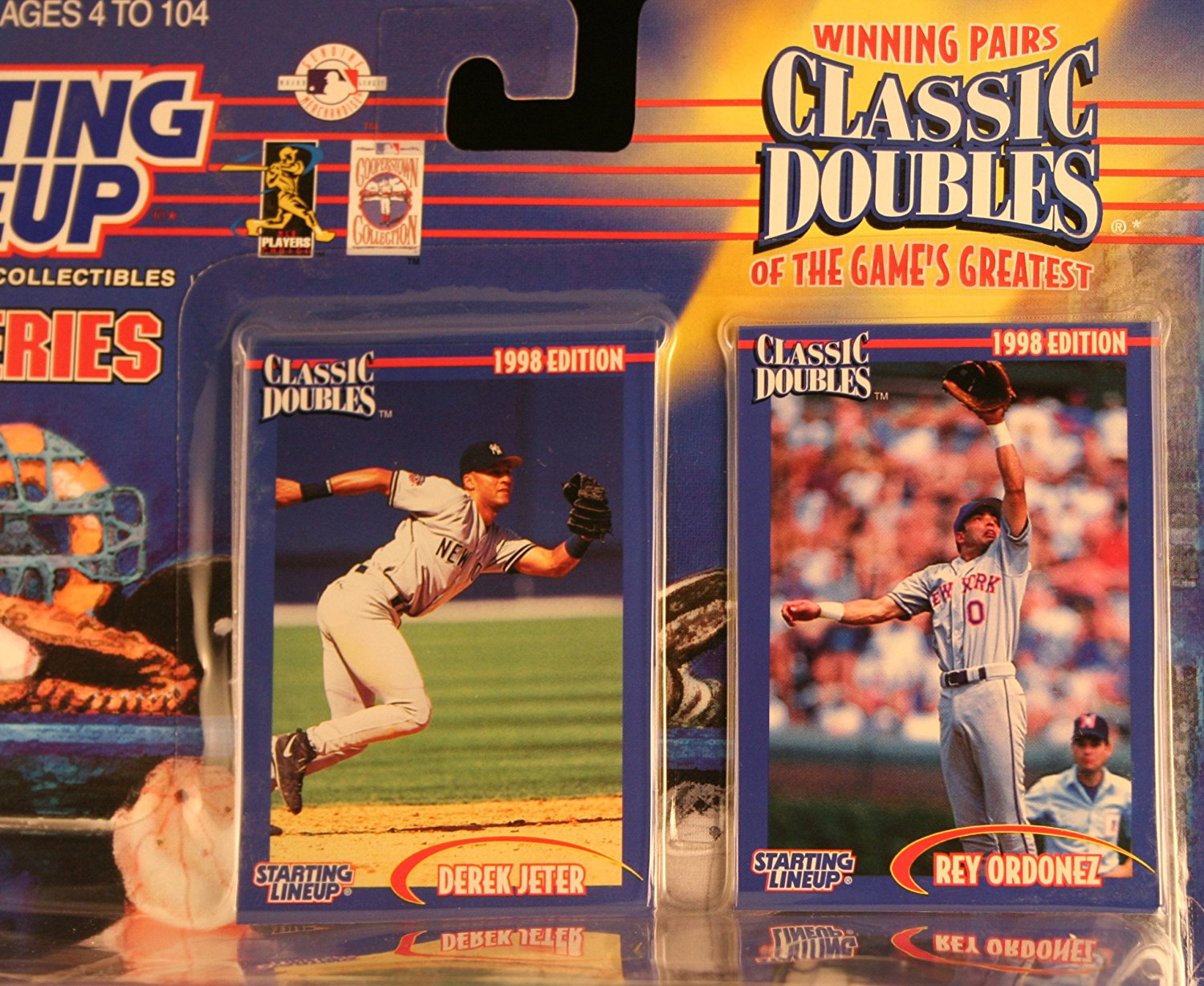 1998 MLB Starting Lineup Classic Doubles - Derek Jeter New York Yankees & Rey Ordonez New York Mets