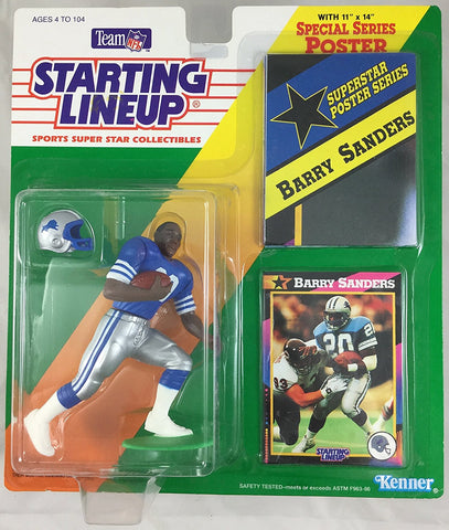 1992 Barry Sanders NFL Starting Lineup Figure Detroit Lions