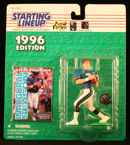 STEVE BEUERLEIN / JACKSONVILLE JAGUARS 1996 NFL Starting Lineup Action Figure & Exclusive NFL Collector Trading Card