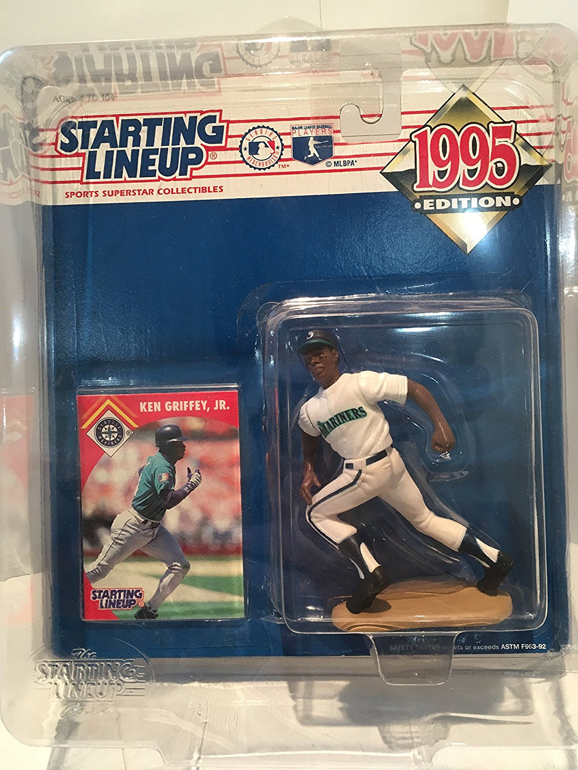 1995 Ken Griffey Jr. MLB Starting Lineup Figure Seattle Mariners