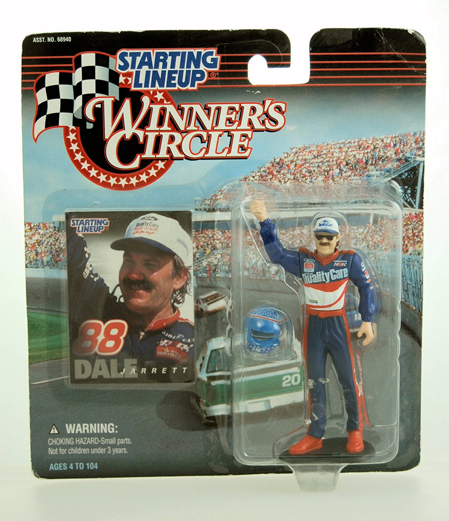 1997 - Kenner - Starting Lineup - Winner's Circle - NASCAR - Dale Jarrett Action Figure - 4 Inch Fig - Ford Quality Care - Ford Thunderbird - w/ Accessories - Limited Edition - Collectible