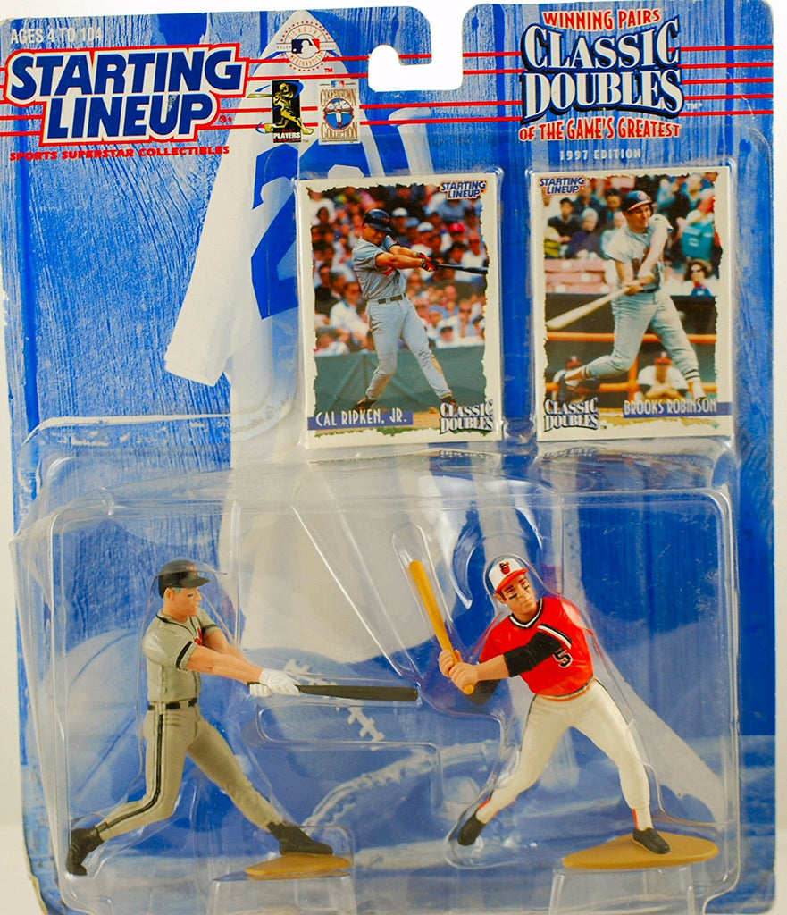 CAL RIPKEN JR. / BALTIMORE ORIOLES & BROOKS ROBINSON / BALTIMORE ORIOLES 1998 MLB Classic Doubles * Winning Pairs Series * Starting Lineup Action Figures & 2 Exclusive Collector Trading Cards