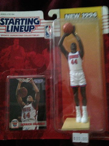1994 Derrick Coleman NBA Starting Lineup Figure New Jersey Nets