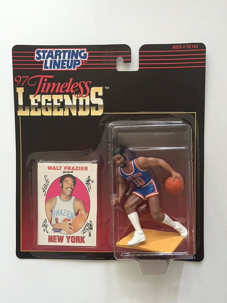 WALT FRAZIER / NEW YORK KNICKS 1997 Timeless Legends Kenner NBA Starting Lineup & Exclusive Collector Trading Card