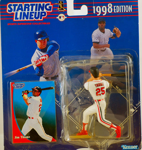 1998 Edition - Starting Lineup - MLB - Jim Thome #25 - Cleveland Indians - w/ Trading Card - Limited Edition - Collectible
