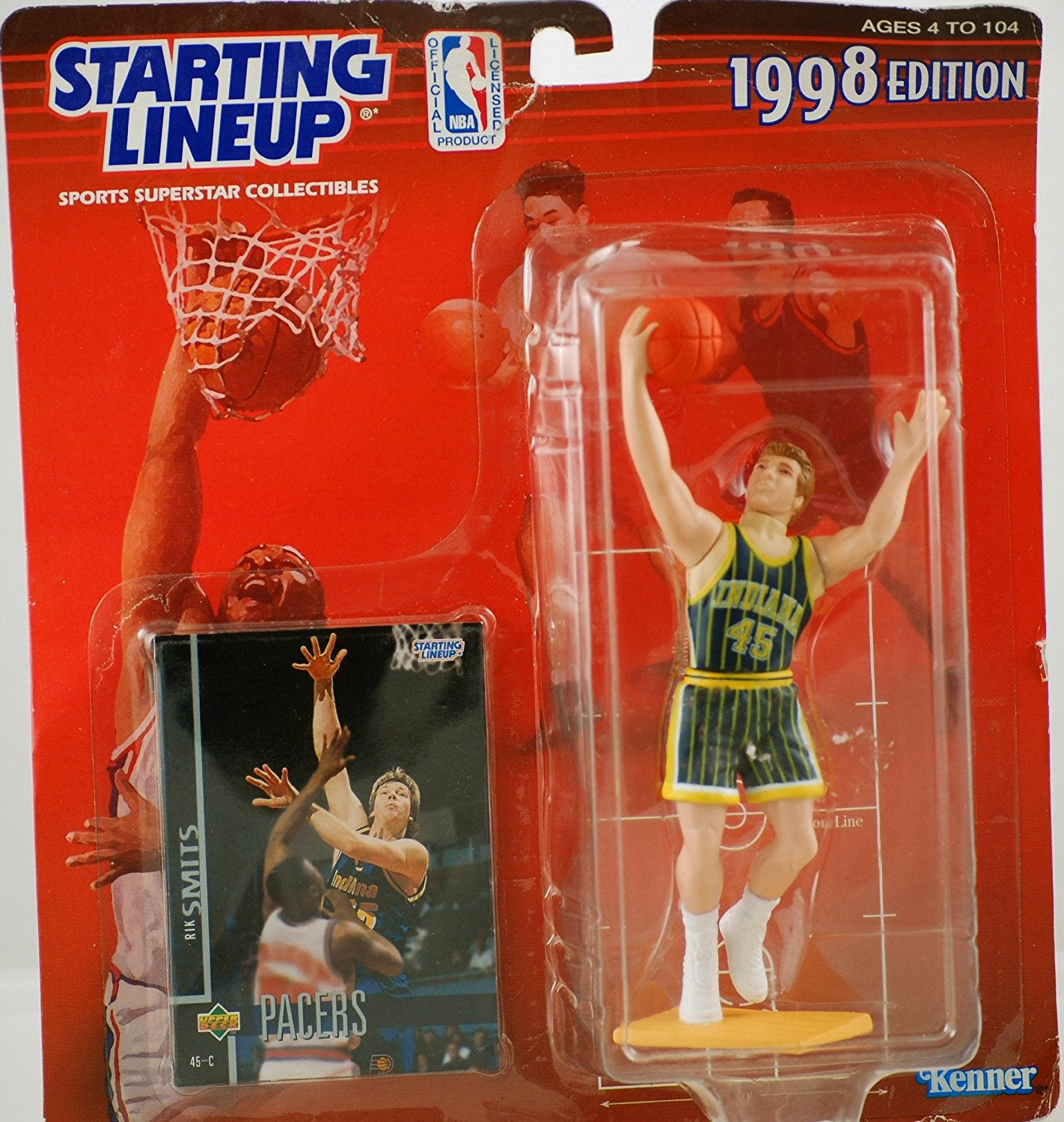 1998 NBA Starting Lineup - Rik Smits - Indiana Pacers