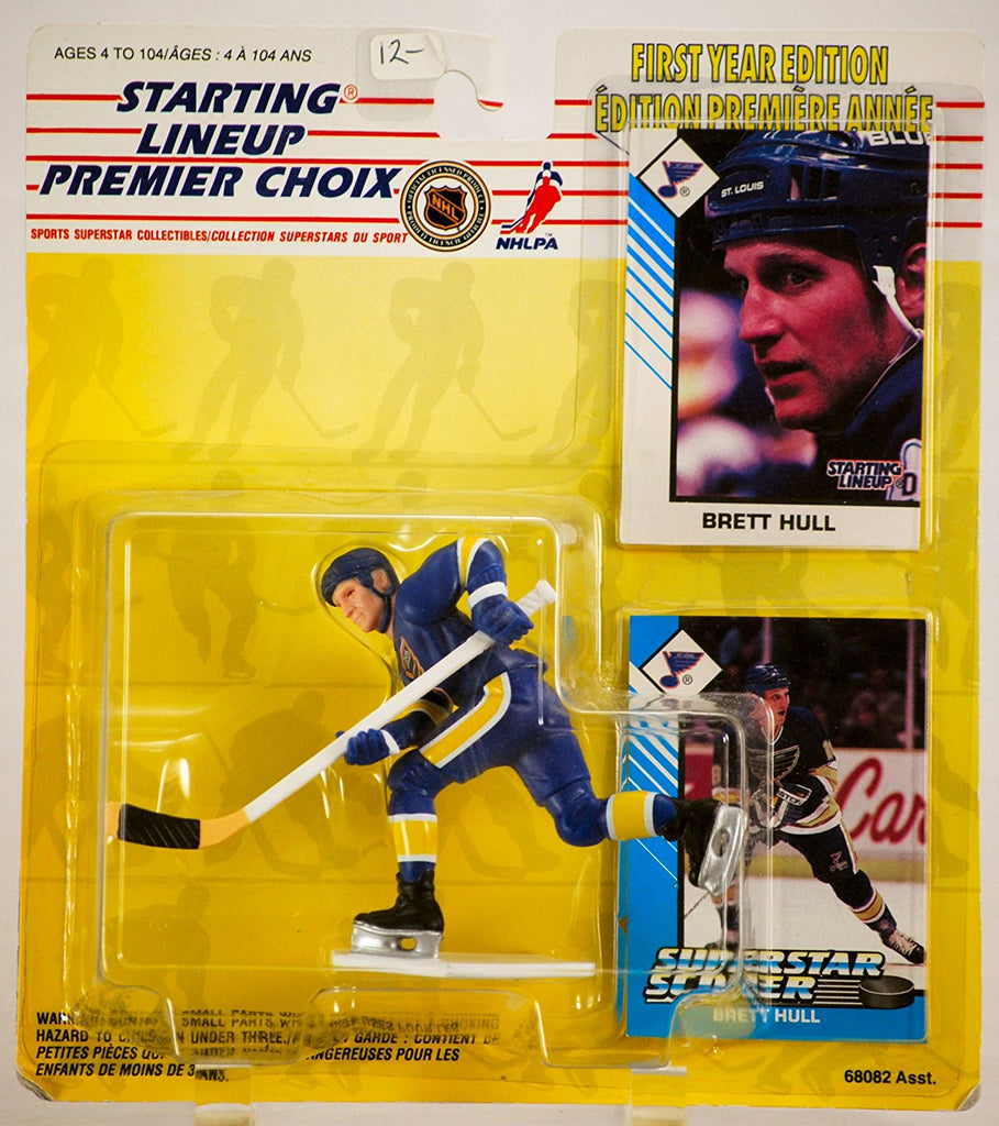 1993 - Kenner / NHL - Starting Lineup - Brett Hull / St. Louis Blues Figure - First Year Edition - w/ 2 Trading Cards - MOC - Limited Edition - Collectible