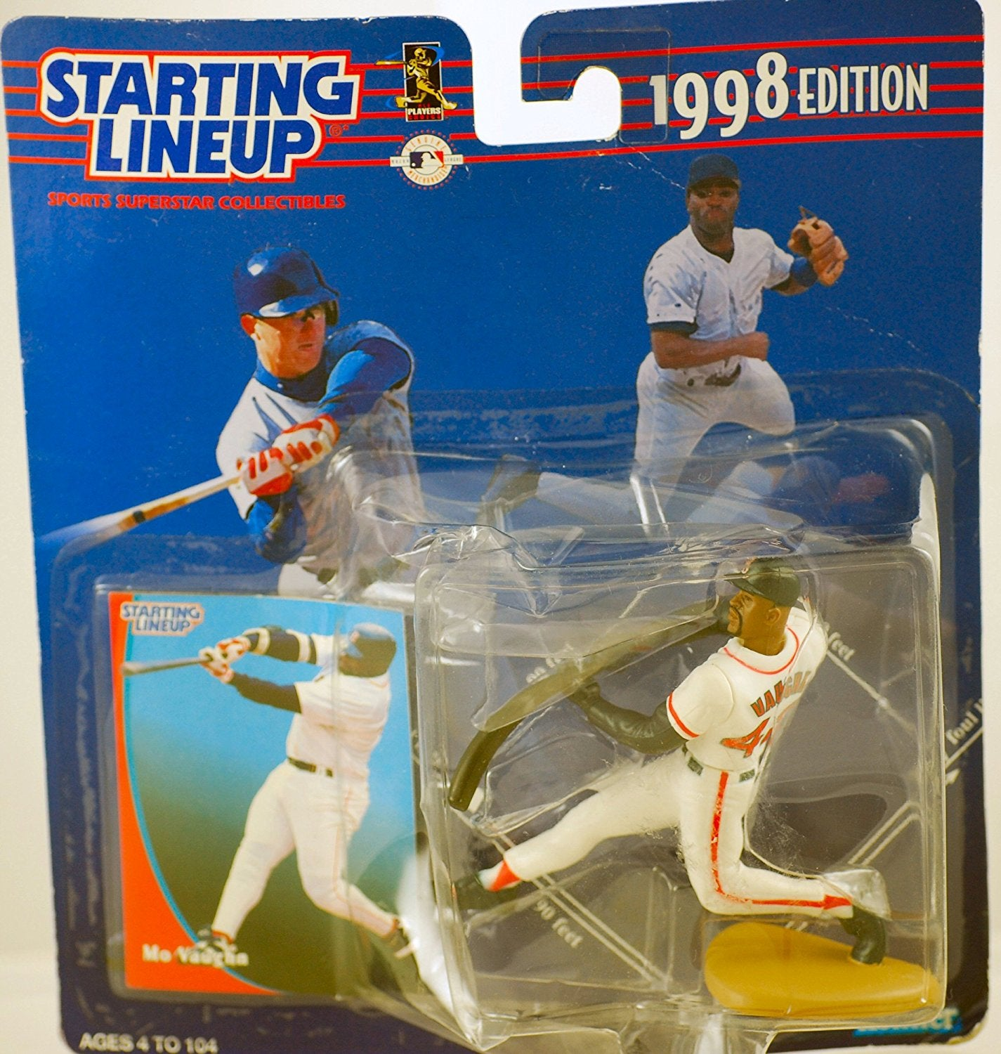 1998 Starting Lineup MLB Mo Vaughn #42 - Boston Red Sox - Vintage Action Figure - w/ Trading Card - Limited Edition - Collectible