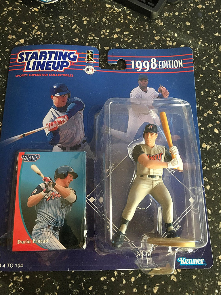 DARIN ERSTAD / ANAHEIM ANGELS 1998 MLB Starting Lineup Action Figure & Exclusive Collector Trading Card